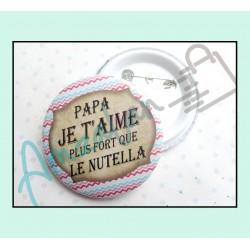 Bonne fête papa v03 sur faience avec chevalet idée cadeau originale fête des pères neuf emballé