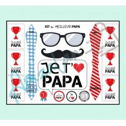 Bonne fête papa v04 sur faience avec chevalet idée cadeau originale fête des pères neuf emballé