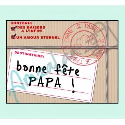 Bonne fête papa v05 sur faience avec chevalet idée cadeau originale fête des pères neuf emballé