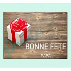 Bonne fête papa v06 sur faience avec chevalet idée cadeau originale fête des pères neuf emballé