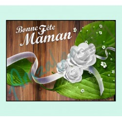 Bonne fête maman v08 sur faience avec chevalet idée cadeau originale fête des mères neuf emballé