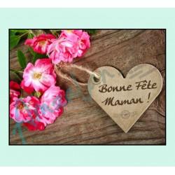 Bonne fête maman v11 sur faience avec chevalet idée cadeau originale fête des mères neuf emballé