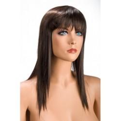 Perruque Allison Effilé Chatain douceur au toucher semblable au cheveux véritable coffret looks glamour, coquin neuve