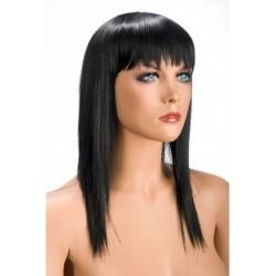 Perruque Allison Effilé Brune douceur au toucher semblable au cheveux véritable coffret looks glamour, coquin neuve