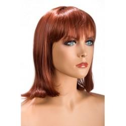 Perruque Camila Rousse frange douceur au toucher semblable au cheveux véritable coffret looks glamour, coquin neuve