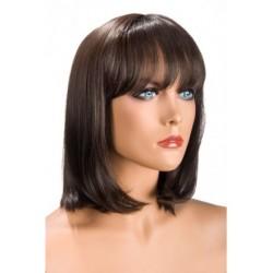 Perruque Camila Chatain frange douceur au toucher semblable au cheveux véritable coffret looks glamour, coquin neuve