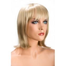 Perruque Camila Blonde frange douceur au toucher semblable au cheveux véritable coffret looks glamour, coquin neuve