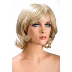 Perruque Victoria mi long Blond douceur au toucher semblable au cheveux véritable coffret looks glamour, coquin neuve