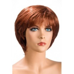 Perruque Sofia Courte Rousse douceur au toucher semblable au cheveux véritable coffret looks glamour, coquin neuve
