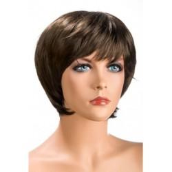 Perruque Sofia Courte Chatain douceur au toucher semblable au cheveux véritable coffret looks glamour, coquin neuve