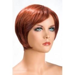 Perruque Daisy Courte Rousse douceur au toucher semblable au cheveux véritable coffret looks glamour, coquin neuve