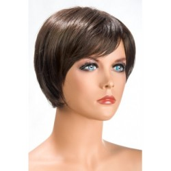 Perruque Daisy Courte Chatain douceur au toucher semblable au cheveux véritable coffret looks glamour, coquin neuve