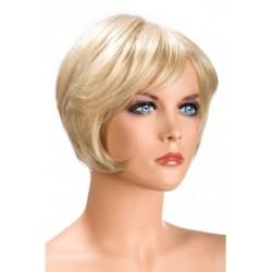 Perruque Daisy Courte Blonde douceur au toucher semblable au cheveux véritable coffret looks glamour, coquin neuve