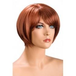 Perruque Mia Courte Rousse douceur au toucher semblable au cheveux véritable coffret looks glamour, coquin neuve