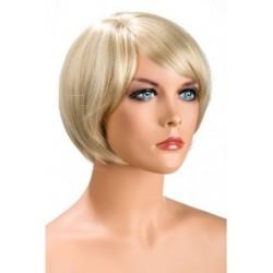 Perruque Mia Courte Blonde douceur au toucher semblable au cheveux véritable coffret looks glamour, coquin neuve