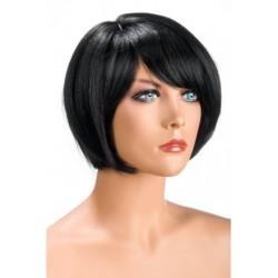 Perruque Mia Courte Brune douceur au toucher semblable au cheveux véritable coffret looks glamour, coquin neuve