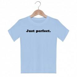 T shirt garçon bleu manche courte imprimé - Just perfect du 3/4 au 9/11 ans vêtement enfant cadeau neuf
