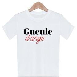 T shirt garcon blanc manche courte imprimé -Gueule d'ange du 3/4 au 9/11 ans enfant cadeau neuf