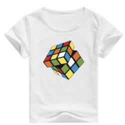 T shirt garçon blanc manche courte - Rubicube du 3/4 au 9/11 ans enfant cadeau neuf