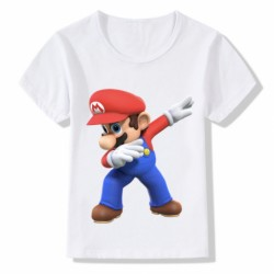 T shirt garçon blanc manche courte - Mario bros DAB du 3/4 au 9/11 ans enfant cadeau neuf