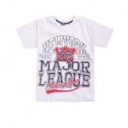 T shirt garçon manche courte 100% Coton - New York 55 blanc du 5 au 8 ans enfant idée cadeau neuf