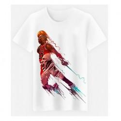 T shirt garçon blanc manche courte sport Basket M. JORDAN 23 du 5/6 au 12/13 ans idée cadeau anniversaire neuf