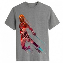 T shirt garçon gris manche courte sport Basket M. JORDAN 23 du 5/6 au 12/13 ans idée cadeau anniversaire neuf