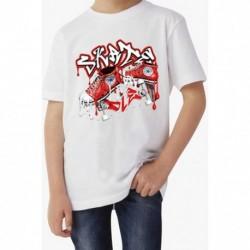 T shirt garçon blanc manche courte - TAG SKATE du 3/4 au 9/11 ans enfant cadeau neuf