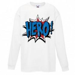 T shirt garçon blanc manche longue - TAG HERO du 3/4 au 9/11 ans enfant cadeau neuf