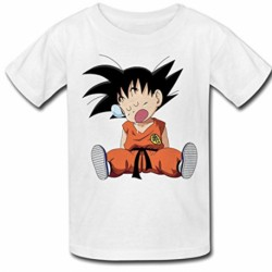 T shirt garçon blanc manche courte - Dragon Ball Z sangoku 3 du 3/4 au 9/11 ans enfant cadeau neuf