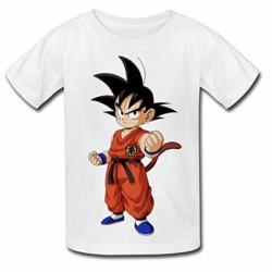 T shirt garçon blanc manche courte - Dragon Ball Z sangoku 2 du 3/4 au 9/11 ans enfant cadeau neuf
