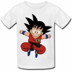 T shirt garçon blanc manche courte -Dragon Ball Z sangoku du 3/4 au 9/11 ans enfant cadeau neuf