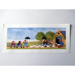 POSTER DECORATIF AFFICHE ENFANT OURSON 43X19 CM M.C ROY NEUF VERSION 01