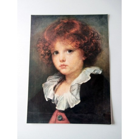 ART REPRODUCTION COLLECTION Petit garçon au gilet rouge Greuze 30 X 40 CM