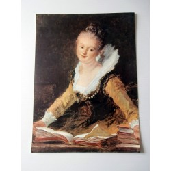POSTER ART REPRODUCTION D'ORIGINE COLLECTION LA LECTURE - JEAN HONORÉ FRAGONARD 30 X 40 CM OCCASION