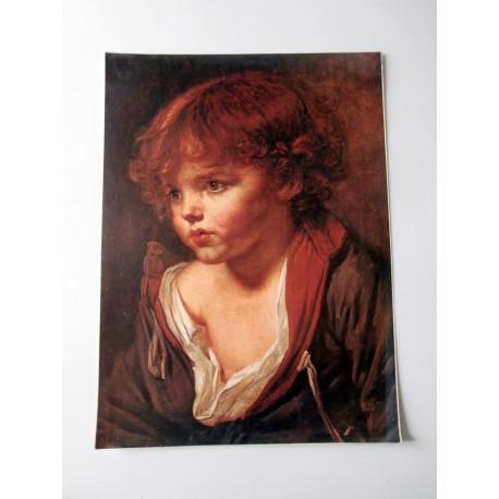 ART REPRODUCTION COLLECTION Petit garçon blond, à la chemise ouverte Greuze 30 X 40 CM