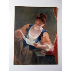 ART REPRODUCTION COLLECTION jean raoux, jeune fille lisant une lettre / 30 X 40 CM