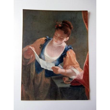 ART REPRODUCTION COLLECTION jean raoux, jeune fille lisant une lettre 30 X 40 CM
