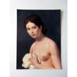 POSTER ART REPRODUCTION D'ORIGINE COLLECTION Le Jour ni l'Heure portrait de jeune fille, peintre anonyme 30 X 40 CM OCCASION