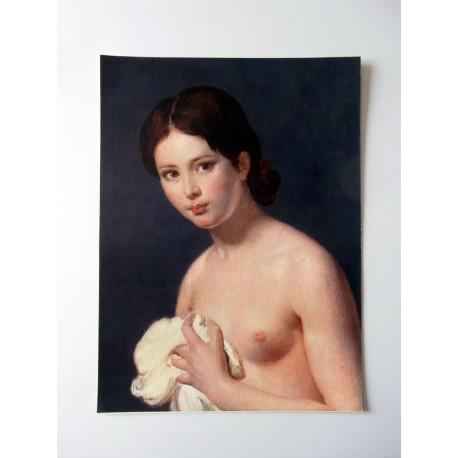 ART REPRODUCTION Le Jour ni l'Heure portrait de jeune fille, peintre anonyme 30 X 40 CM
