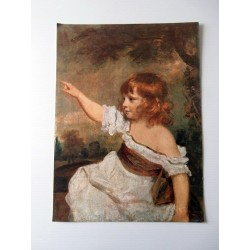POSTER ART REPRODUCTION D'ORIGINE COLLECTION Le jeune garçon aux cheveux longs Reynolds 30 X 40 CM OCCASION