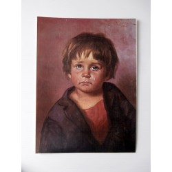 POSTER ART REPRODUCTION D'ORIGINE COLLECTION EDDY L' ENFANT QUI PLEURE 30 X 40 CM OCCASION