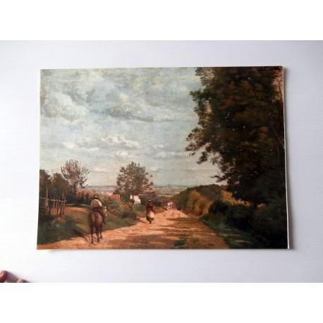 ART REPRODUCTION PAYSAGE D'ANTAN 30 X 40 CM