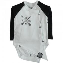 Body bébé manches longues swagg victory coupe déstructuré blanc du 3 au 24 mois vêtement cadeau neuf