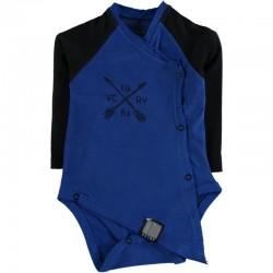 Body bébé manches longues swagg victory coupe déstructuré bleu du 3 au 24 mois vêtement cadeau neuf