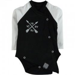 Body bébé manches longues swagg victory coupe déstructuré noir du 3 au 24 mois vêtement cadeau neuf
