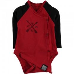 Body bébé manches longues swagg victory coupe déstructuré rouge du 3 au 24 mois vêtement cadeau neuf