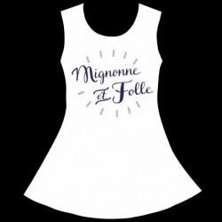 Robe Fille sans manches Blanche - Mignonne et folle du 4 au 10 ans vêtement enfant neuf