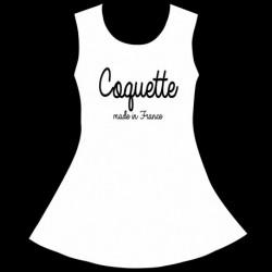 Robe Fille sans manches Blanche - Coquette made in France du 4 au 10 ans vêtement enfant neuf