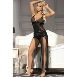 Ensemble Lingerie sexy femme Nuisette longue transparente et string DU XL AU 5XL cadeau st valentin anniversaire noel neuve
